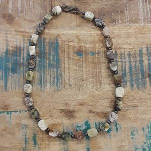 Stunning High End Polished Stone Necklace